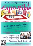 Expo-bible du 21 au 25 octobre 2013